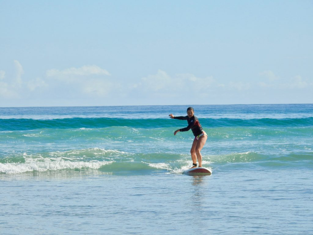 learning to surf in Mt Maunganui
